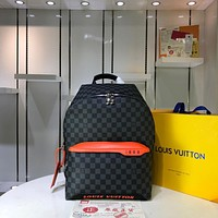 LV Louis Vuitton MEN'S Damier Cobalt Race CANVAS Discovery PACKBACK BAG