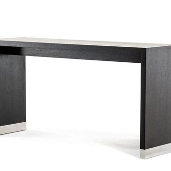 Modrest Silas Modern Wenge Wood Bar Table