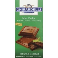 Ghirardelli Mint Cookie Milk Chocolate Squares 3.45 oz