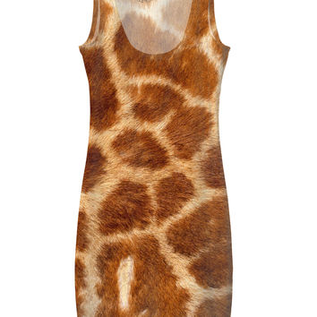 Giraffe Fur Simple Dress