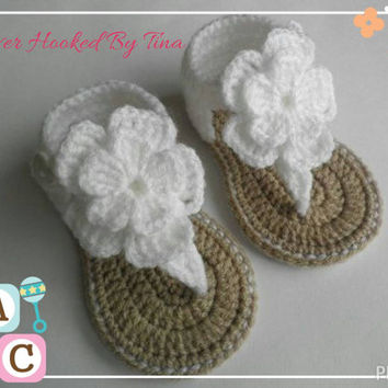 Baby crochet sandals, crochet baby shoes, baby girl crochet sandals girls crochet sandals summer sandals 6-12 months