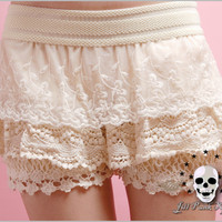 Lolita KERA Dahlia blossom Queen bee fairy intimate tiered bloomer shorts E 0024