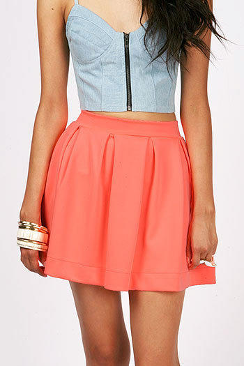Pleat Puff Skirt   Trendy Clothes at Pink Ice