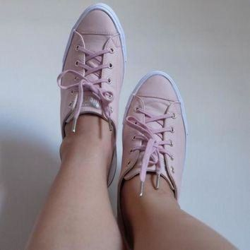 ICIKGQ8 converse ctas gemma low leather evening sand gold exclusive hers trainers