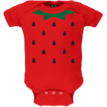 Halloween Strawberry Costume Baby One Piece