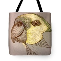 Unfinished Parrot Tote Bag