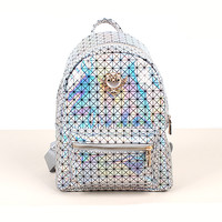 New Hologram Laser Backpack Girl School Bag Shoulder Women Rainbow Colorful candy color Laser Holographic Backpack DL2498