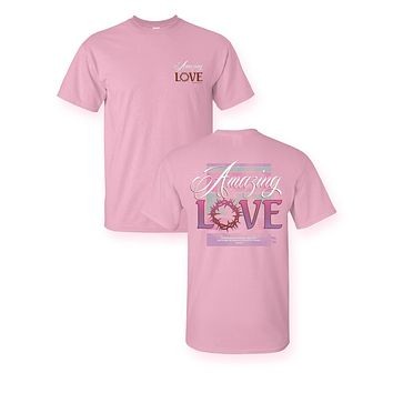 Sassy Frass Amazing Love Christian Bright Girlie T Shirt