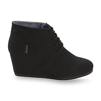 Bongo Women's Patillas Black Wedge Bootie