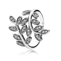 PANDORA Sparkling Leaves Ring - Size 9