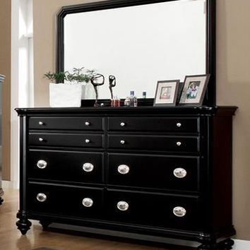 Colarri Contemporary Multi Drawer Dresser & Mirror Set