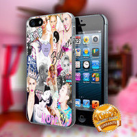 Miley Cyrus Collage - Print on hard plastic case for iPhone case. Select an option