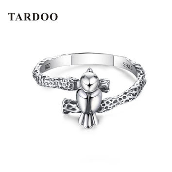 Tardoo New Arrival 100% 925 Sterling Silver Finger Rings for Women Bird Animal Spring Collection Other Rings Brand Fine Jewelry