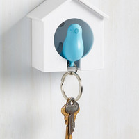 Home Tweet Home Key Holder in Sky | Mod Retro Vintage Decor Accessories | ModCloth.com
