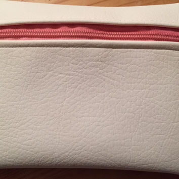 Zippered Pouches - white vinyl