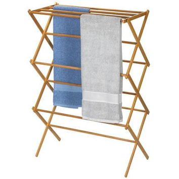 Bamboo X-Frame Clothes Drying Rack