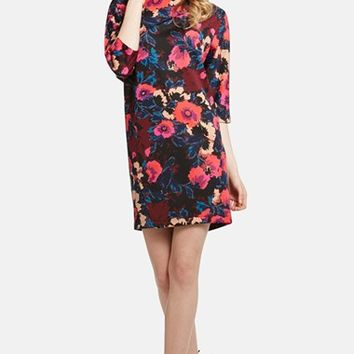 Women's Donna Morgan Floral Scuba Shift Dress,