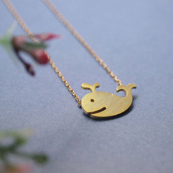 Whale charm Necklace - whale necklace - lovely necklace - trend gift - unique gift - gift idea - fashion necklace - free shipping
