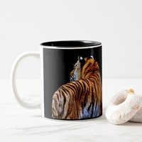 Wild Cats Wildlife Tiger Photography Two-Tone Coffee Mug