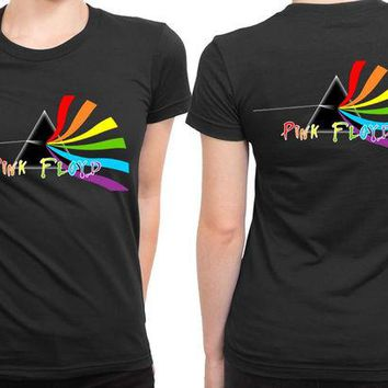DCCKL83 Pink Floyd Rotate 2 Sided Womens T Shirt