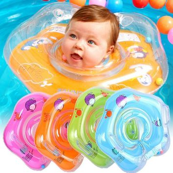 Swimming Baby Neck Ring Tube Safety Infant Float Circle