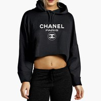 Chanel Paris Top Cropped Hoodie