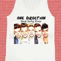 One Direction Shirt Best Song Ever Shirt 1D Shirt Pop Rock Shirt Unisex Shirt Tank Top Women Singlet Sleeveless Vest Women Top Size S,M,L