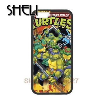 SHELI TMNT Teenage Mutant Ninja Turtles cellphone case cover for Iphone 5 5S 5C 6 Plus for Samsung galaxy S3 S4 S5 S6 S7 edge