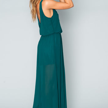 Show Me Your mumu Kendall Maxi Dress ~ Emerald Chiffon