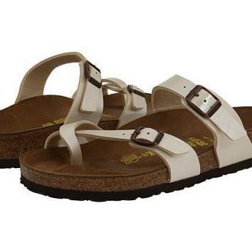 Beauty Ticks Birkenstock Mayari Sandals Antique Lac Birko-flor