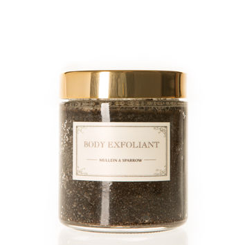 mullein and sparrow | coffee mint body exfoliant