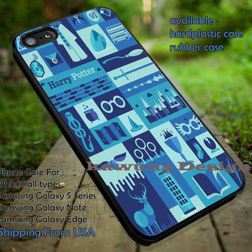 Harry Potter Collage Art Blue iPhone 6s 6 6s+ 5c 5s Cases Samsung Galaxy s5 s6 Edge+ NOTE 5 4 3 #movie #HarryPotter dt