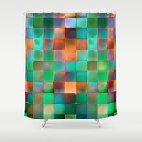 CHECKED DESIGN II Shower Curtain by Pia Schneider [atelier COLOUR-VISION]