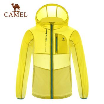 CAMEL Outdoor Sports children skin clothing Windbreaker Light Weigh Sun-Protective Jackets Waterproof Skin Coat Quick Dry