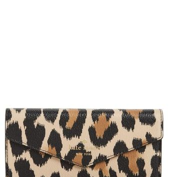 kate spade new york leopard print faux leather iPhone wristlet | Nordstrom