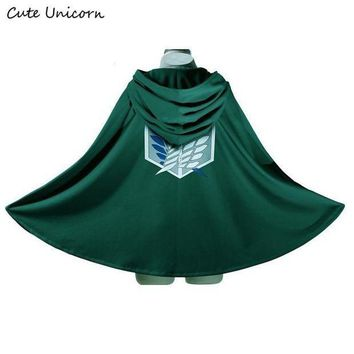 ac PEAPO2Q SALE Attack on Titan Cloak Shingeki no Kyojin Scouting Legion Cosplay Costume anime cosplay green Cape mens clothes