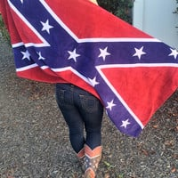 Confederate Flag Beach Towel