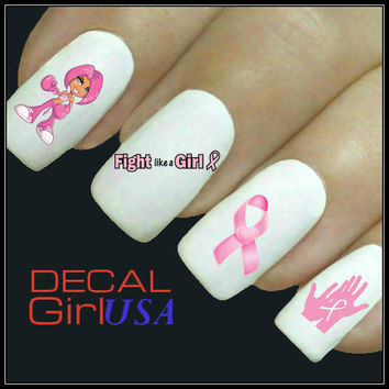Nail Art Decals 50 Breast Cancer Awareness Nail Decals