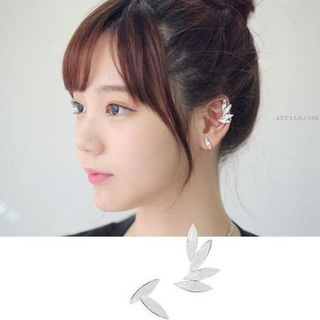CREYL New Hot Fashion Elegant 3pcs/set Wings Leaf Crystal Ear Clip Rhinestone Ear Cuff Women Earrings Jewelry   E-179