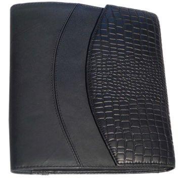 Designer Big Croco Embossed Leather Diary