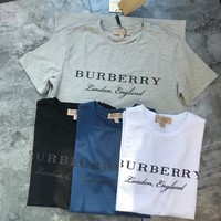 BURBERRY Women/Men Fashion Classic Short sleeve T-shirt