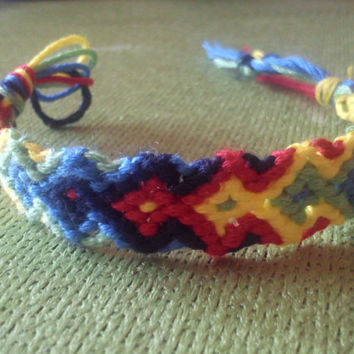 Friendship Bracelet Rainbow Arrowhead Pattern