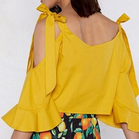 Let the Sunshine Ruffle Top