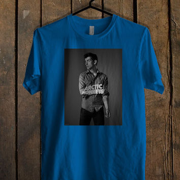 Alex Turner Style Blue For Mens T Shirt, Womens T Shirt ***