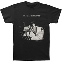 Velvet Underground Men's  Self-Titled Slim Fit T-shirt Black