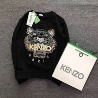 KENZO Fashion Tiger Embroidery Hoodie Top Sweater Pullover