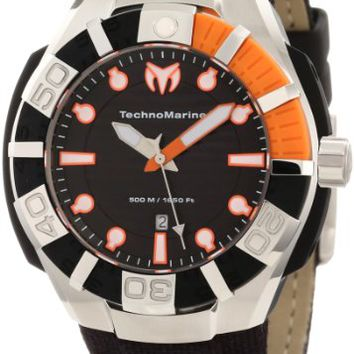 Technomarine Black Reef Black Dial Black Silicone Mens Watch 512001S
