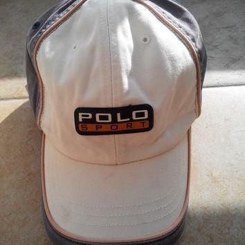 Rare Vintage POLO SPORT By Ralph Lauren Hat Caps Official Trademark Of Ralph Lauren