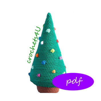 pattern crocheted christmas tree