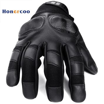 Military Tactical Gloves Antiskid carbon fiber Mittens Winter Thermal Men Fighting Leather Free Shipping